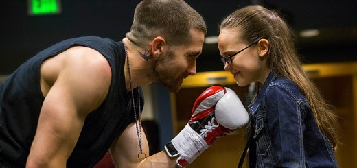 Jake Gyllenhaal and Oona Laurence star in SOUTHPAW.